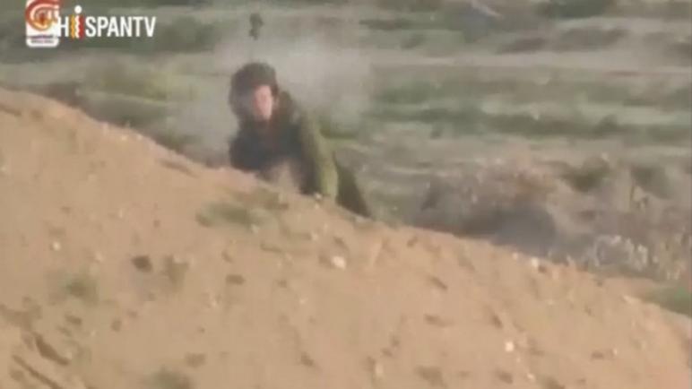 قناص فلسطيني يطلق النار على رأس جندي اسرائيلي على حدود قطاع غزة