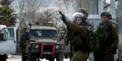 استشهاد فلسطيني بنيران الجنود الاسرائيليين في نابلس بالضفة الغربية