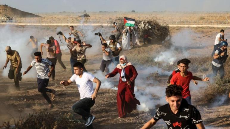 استشهاد شاب فلسطيني برصاص الجيش الإسرائيلي أثناء احتجاجات على الحصار في قطاع غزة