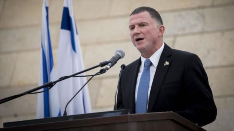 رئيس برلمان الكيان الإسرائيلي يدعو لإزالة دولة فلسطين من جدول الأعمال وضم الضفة الغربية للسيادة الإسرائيلية