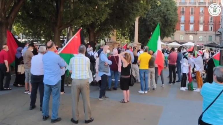 التجمع الفلسطيني في إيطاليا ينظم وقفة في ميلانو رافضة لقرار الضم الإسرائيلي