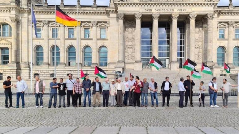 هيئة المؤسسات الفلسطينية والعربية في برلين تنظم مظاهرة أمام البرلمان الألماني رفضا لقرار الضم