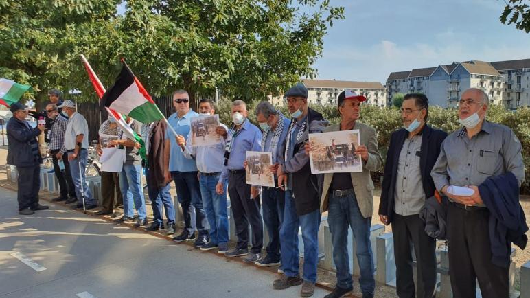 المؤسسات الفلسطينية في الدنمارك تقيم وقفة رافضة لاتفاق التطبيع الإماراتي البحريني مع الاحتلال