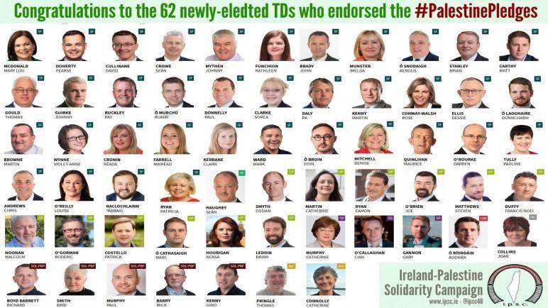 ستة احزاب إيرلندية تتعهد بالعمل على دعم الحرية و العدالة لفلسطين في البرلمان الأيرلندي