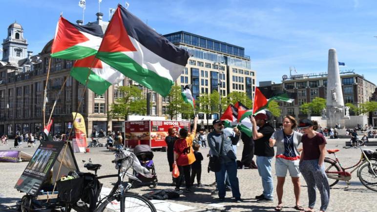 الحملة الأوروبية لرفع الحصار عن غزة تنظم وقفة تضامنية في هولندا احياء للذكرى العاشرة لأسطول الحرية