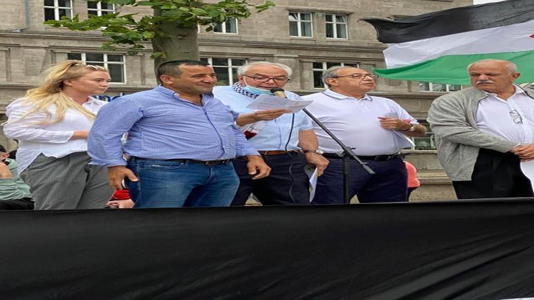 """وقفة في """"كولن"""" الألمانية ترفض قرار الضم وتطالب بمواجهة السياسات الإسرائيلية"""