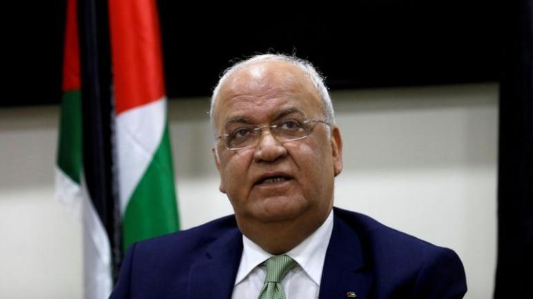 أمين سر اللجنة التنفيذية لمنظمة التحرير الفلسطينية صائب عريقات في حالة حرجة بعد الإصابة بفيروس كورونا