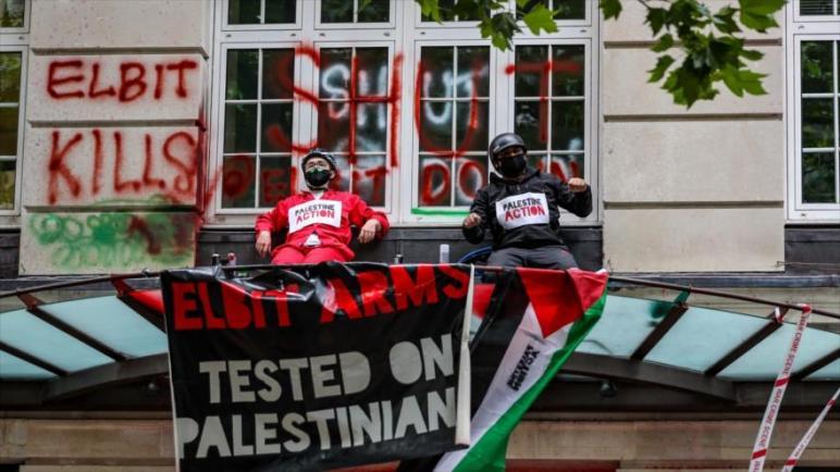 نشطاء مؤيدون لفلسطين يسيطرون على مصنع أسلحة تابع لشركة إسرائيلية في لندن