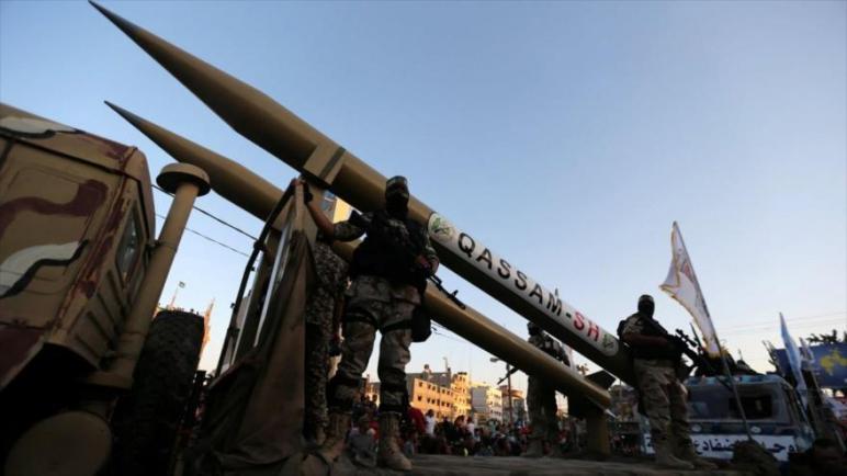 حركة حماس تجري تجارب صاروخية في البحر الأبيض المتوسط في اشارة تحذيرية للكيان الإسرائيلي