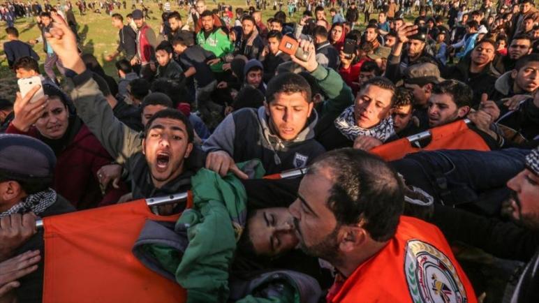 استشهاد فلسطينيان والعديد من الجرحى برصاص جنود الإحتلال الإسرائيلي في قطاع غزة
