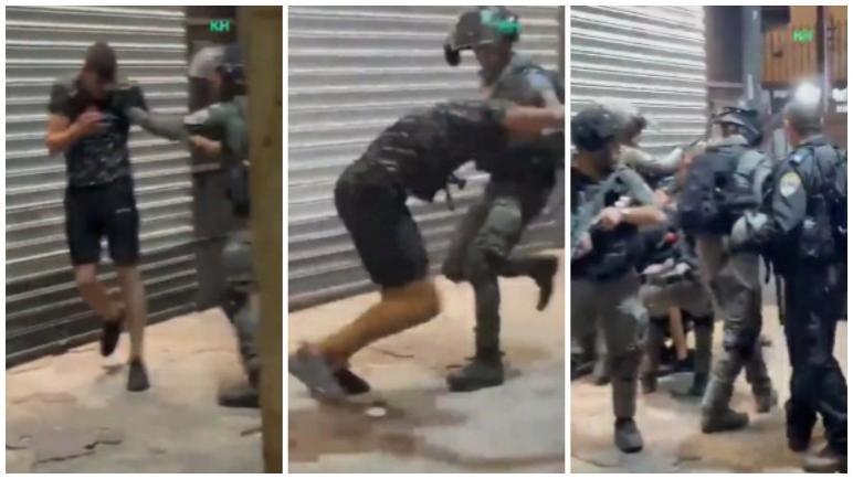 قوات الإحتلال الإسرائيلي تعتدي بالضرب على شاب فلسطيني في القدس