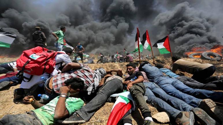 استشهاد طفل فلسطيني واصابة ثلاثين أخرين بجروح بنيران الجيش الإسرائيلي في قطاع غزة