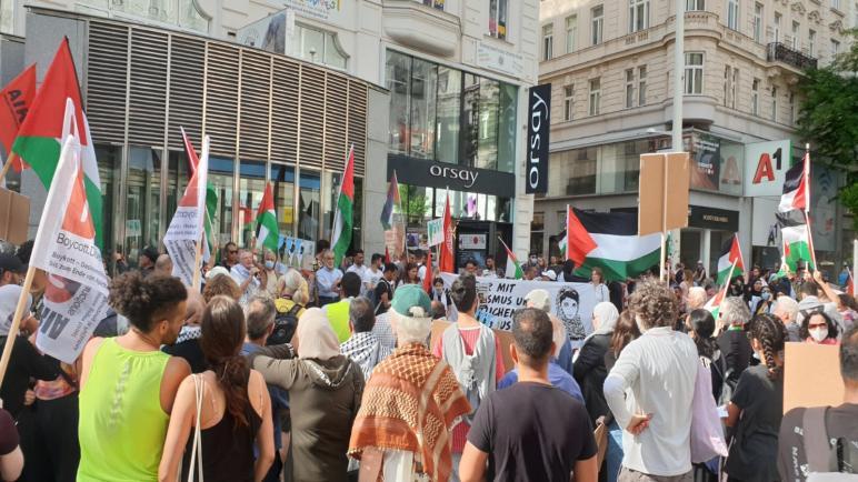 مؤسسات فلسطينية في النمسا تنظم وقفة رافضة لقرار الضم الإسرائيلي
