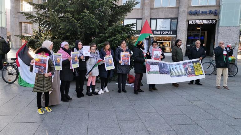 الإئتلاف الفلسطيني في غرب ألمانيا يقيم وقفة شعبية دعما لقطاع غزة المحاصر