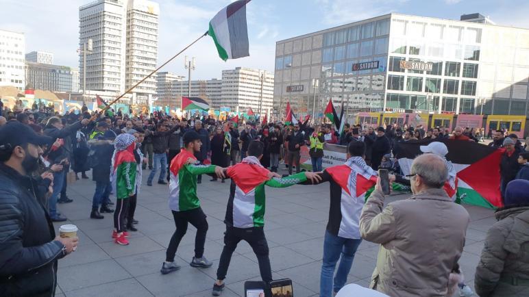 تظاهرة في العاصمة الألمانية برلين ترفض صفقة القرن وتطالب بمواجهتها وإفشالها