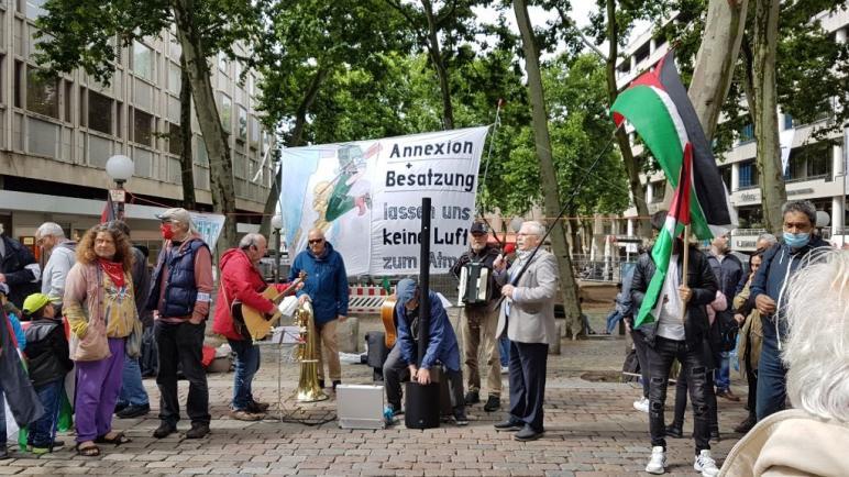 """مظاهرة جماهيرية حاشدة رفضا لمشروع الضم الصهيوني في مدينة """"هامبورغ"""""""