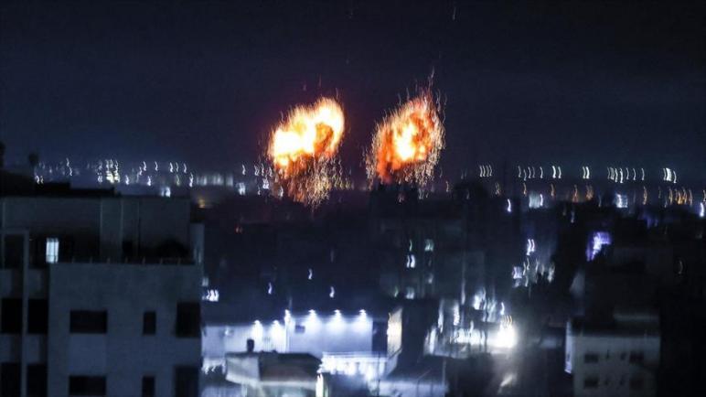 طيران الكيان الإسرائيلي يشن هجمات على شمال قطاع غزة