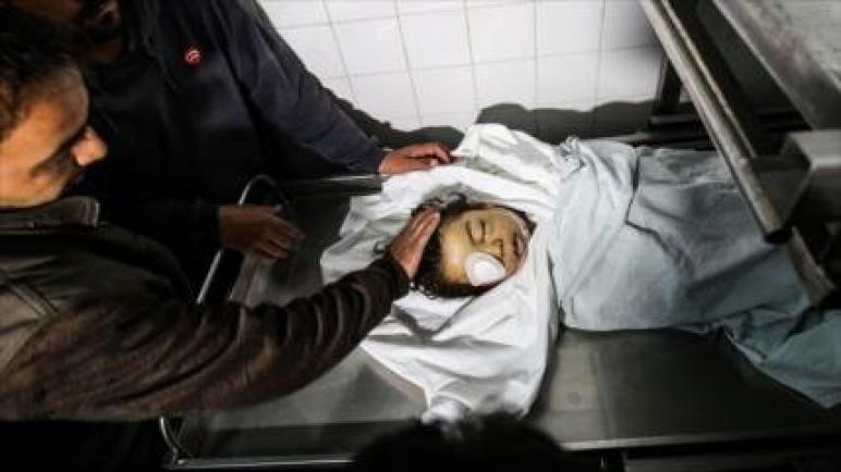 استشهاد طفل فلسطيني يبلغ من العمر خمس سنوات بنيران إسرائيلية في غزة