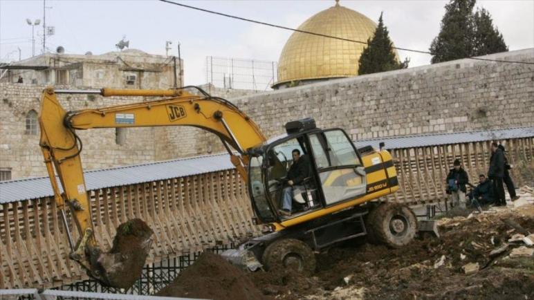 فلسطين تستنكر الحفريات الإسرائيلية أسفل حرم المسجد الأقصى