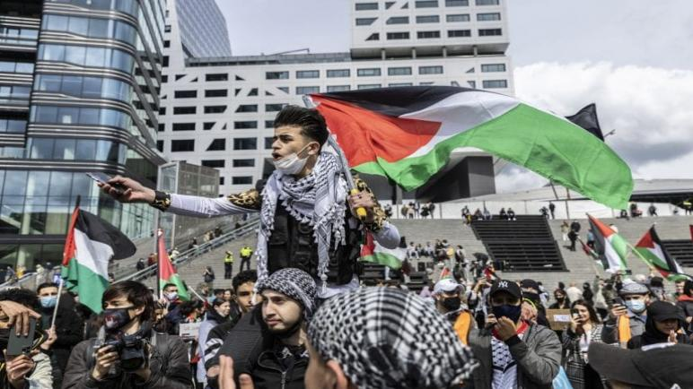خمس مدن هولندية تشهد وقفات تضامنية مع الشعب الفلسطيني ومنددة بالاعتداءات الإسرائيلية