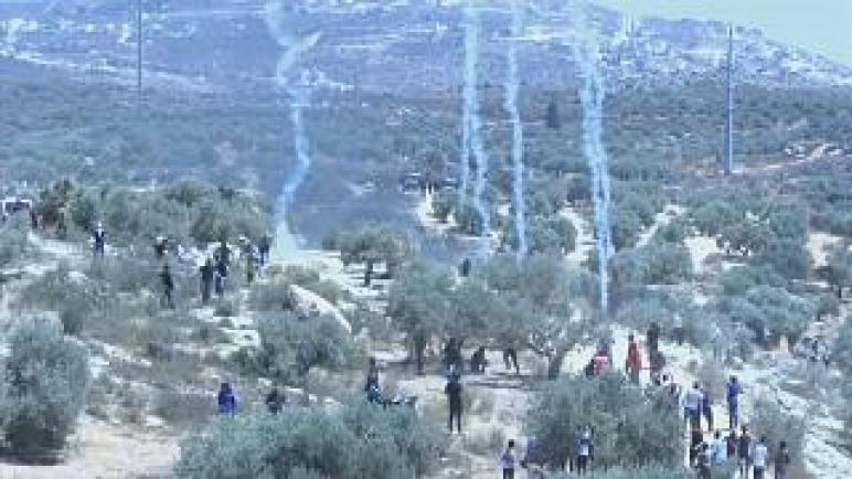 استمرار المظاهرات الفلسطينية ضد بؤرة استيطانية في بيتا بالضفة الغربية المحتلة