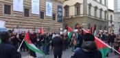 جمعية الصداقة الايطالية الفلسطينية تقيم وقفة ضد صفقة القرن في فلورنس