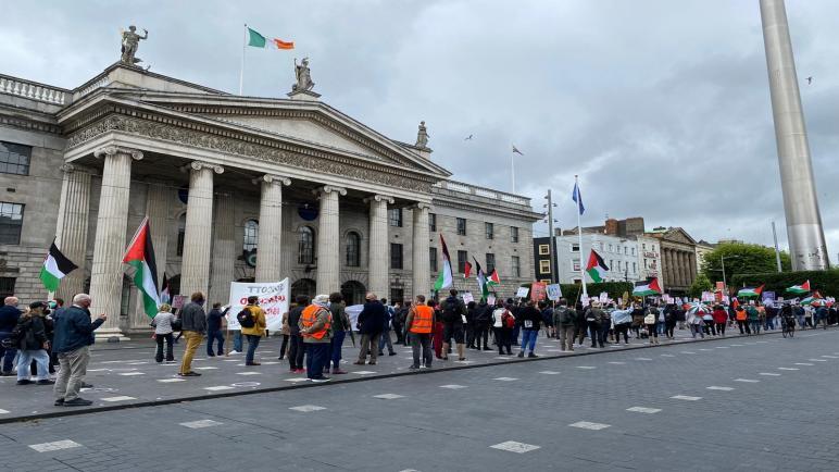 وقفة في العاصمة الإيرلندية للتنديد بالسياسات الإسرائيلية حول الضم للأغوار والضفة الغربية