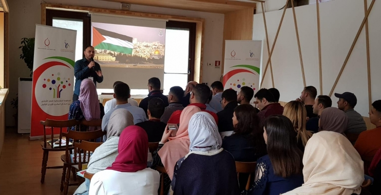 مخيم شبابي فلسطيني تحت عنوان:المنظومة المؤسساتية للعمل الشبابي بين الشكل المكرر والإبداع المأمول