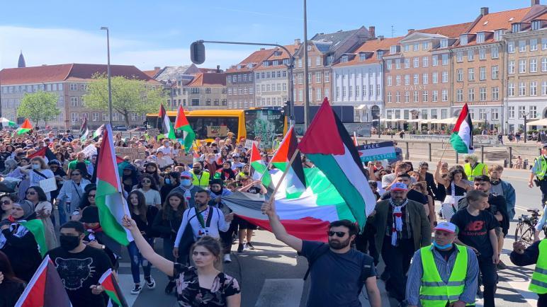 مؤسسات فلسطينية ودنماركية تحيي الذكرى الـ 73 لاحتلال فلسطين بمظاهرة في كوبنهاغن