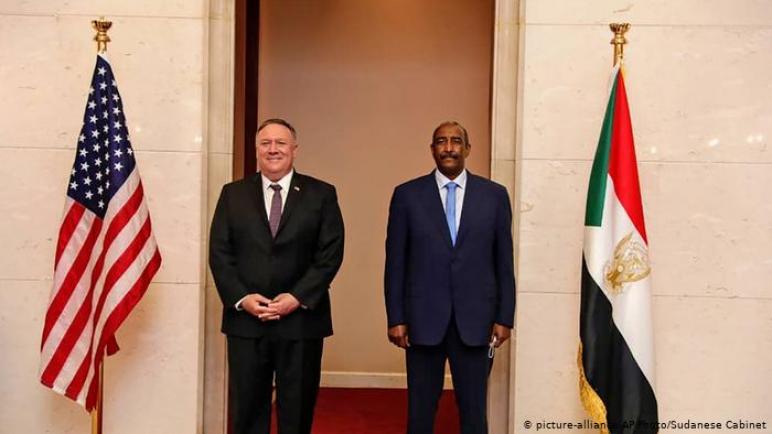 فشل وزير خارجية أمريكا بومبيو في إقناع السودان والبحرين في عقد إتفاقية سلام مع الكيان الإسرائيلي