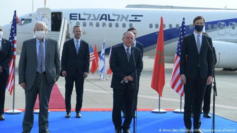وصول وفد أمريكي إسرائيلي في أول رحلة طيران من الكيان إلى المغرب