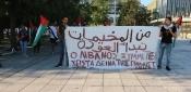 وقفة تضامنية مع فلسطينيي لبنان في العاصمة اليونانية أثينا