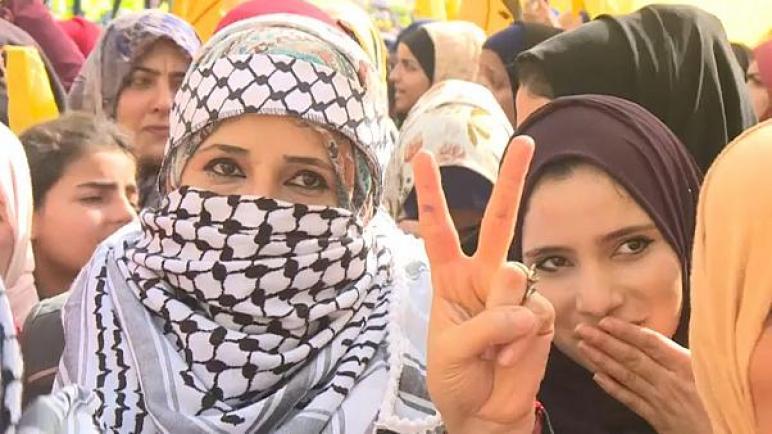 حركة فتح تحتفل بالذكرى 55 لانطلاقتها في قطاع غزة: نأمل بالوحدة الوطنية