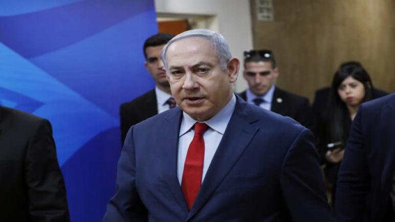 """نتنياهو يهدد """"بالإنتقام الساحق"""" في حال وقوع هجوم على الكيان الأسرائيلي"""