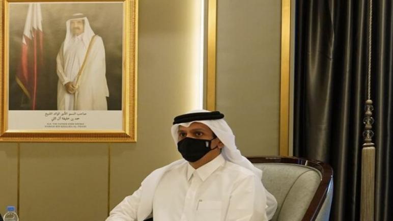قطر تؤكد أنها غير معنية بتطبيع العلاقات مع الكيان الإسرائيلي وأنها ملتزمة بمبادرة السلام العربية