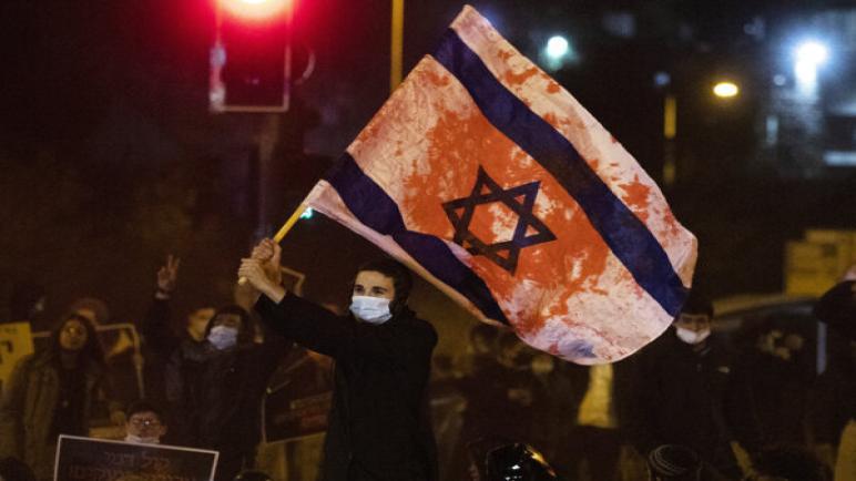 خروج ألاف المتظاهرين في الكيان الإسرائيلي مجدداً للمطالبة باستقالة نتنياهو