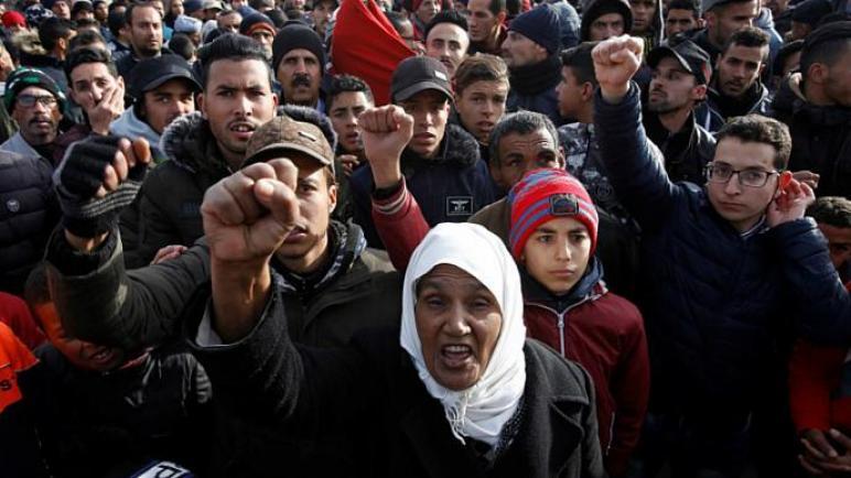 ألاف المغاربة تظاهروا اليوم ضد مؤتمر البحرين وصفقة القرن