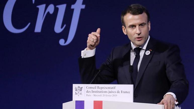 الرئيس الفرنسي: معاداة الصهيونية أحد أشكال معاداة السامية