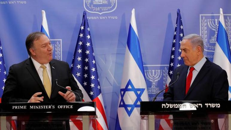 الكيان الإسرائيلي يحذر لبنان من خلال بومبيو بسبب اقامة مصنع للصواريخ الدقيقة
