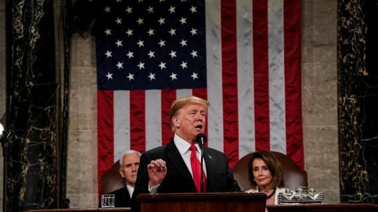 """ترامب في خطابه اليوم: فخور بنقل السفارة الأمريكية إلى العاصمة الحقيقة """"للكيان الإسرائيلي"""""""