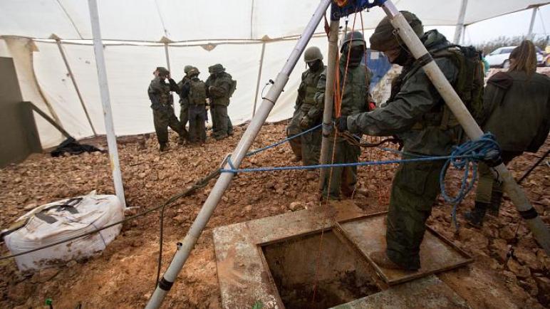 """""""الكيان الإسرائيلي"""" يعلن انتهاء عملية درع الشمال بعد العثور على النفق السادس والاكبر عبر الحدود"""
