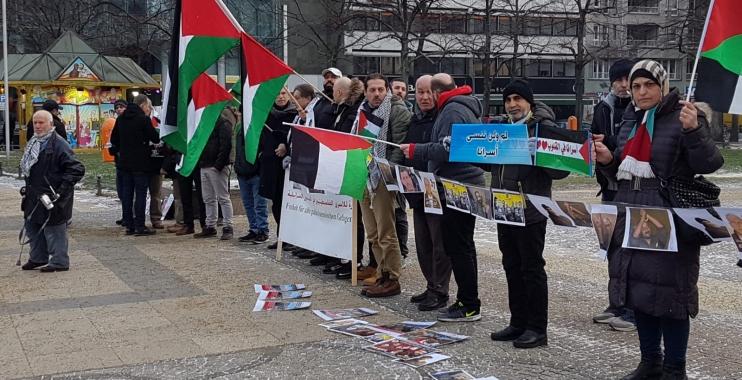 وقفة تضامنية في برلين دعما للأسرى الفلسطينيين في السجون الإسرائيلية