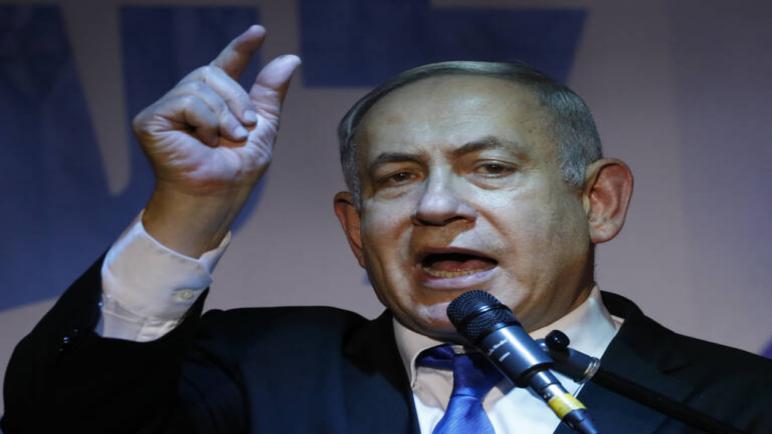 إخلاء نتنياهو من مؤتمر لحزب الليكود في عسقلان بسبب صاروخ أُطلقَ من غزة