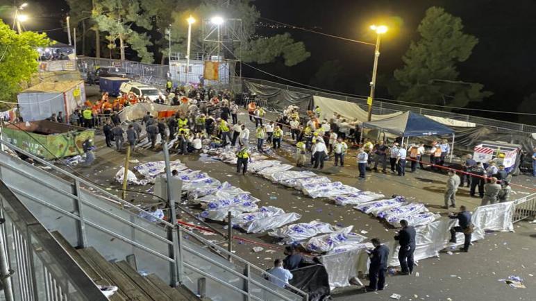 مقتل 44 شخص وجرح المئات في احتفال ديني في الكيان الإسرائيلي