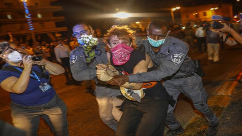 عشرات الإعتقالات في القدس لمتظاهرين مؤيدين ومعارضين لنتنياهو