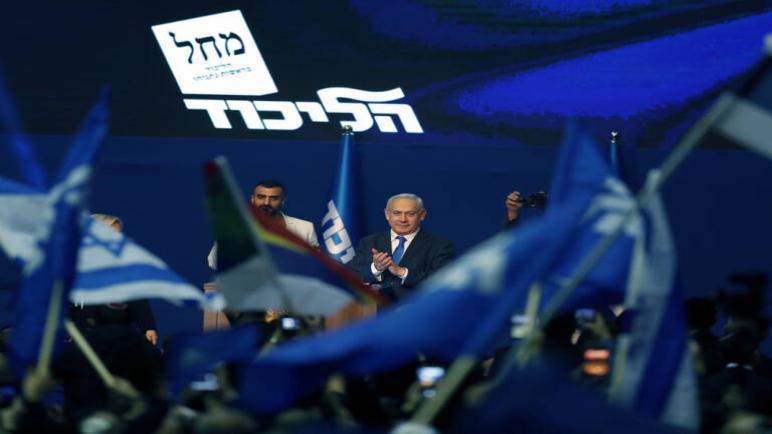 نتنياهو يفوز في الإنتخابات الإسرائيلية لكنه لم يحصل على الأغلبية