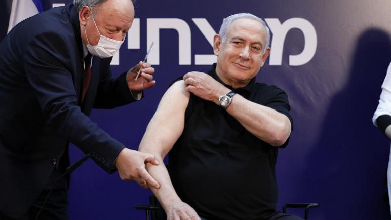 الكيان الإسرائيلي يبدأ التطعيم ضد فيروس كورونا ونتنياهو يتلقى أول لقاح