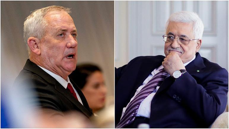 رئيس السلطة الفلسطينية محمود عباس يلتقي بوزير دفاع الكيان الإسرائيلي بيني غانتس في الضفة الغربية