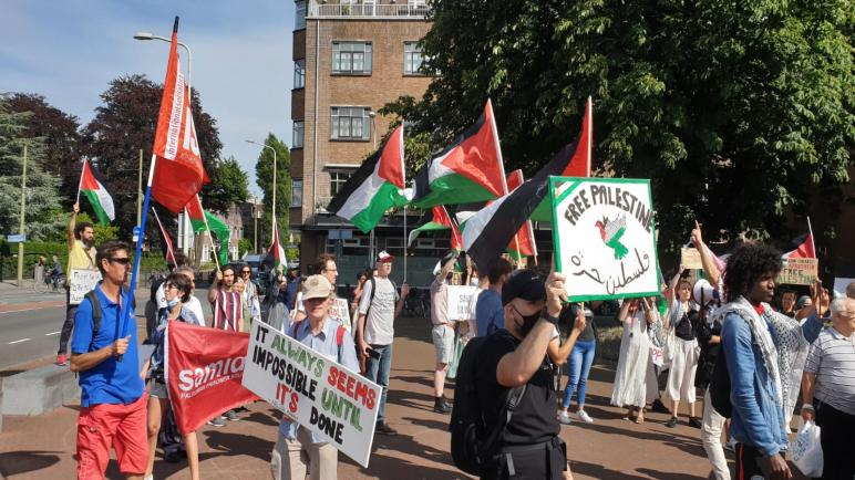 الجالية الفلسطينية تنظم بالشراكة مع مؤسسات فلسطينية وهولندية تظاهرة تضامنية مع أهالي الأحياء المقدسية المهددة بالتهجير