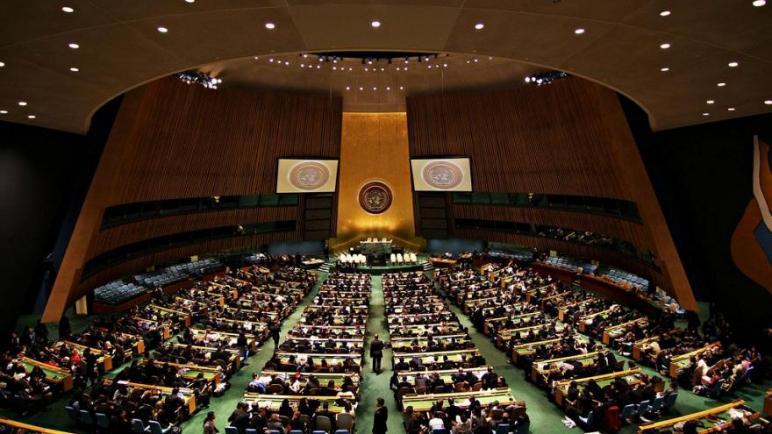 إسرائيل تتوعد بمنع الفلسطينيين من نيل العضوية الكاملة في الأمم المتحدة